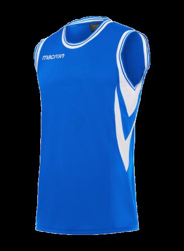 Macron Ethane Basketbalshirt Blauw Wit