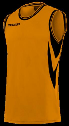 Macron Ethane Basketbalshirt Oranje Zwart